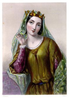 October 8, 1200: Isabella of Angouleme crowned Queen Consort of England. She is called the Helen of the Middle Ages. At the age of 12, already renowned for her beauty, she broke her engagement to a French count and married King John of England. Later, after John's death, she would marry that count, and engage in conspiracies against the French king.