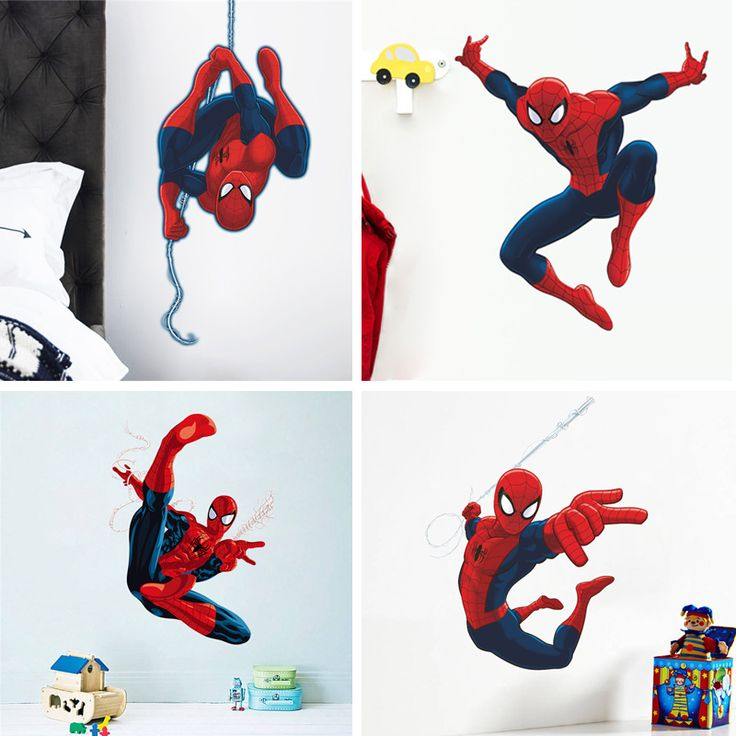 Wall Stickers with Spiderman for Kids Room Price: 7.24 & FREE Shipping  #decomagics #homedecor #homedecorideas #interiordecor