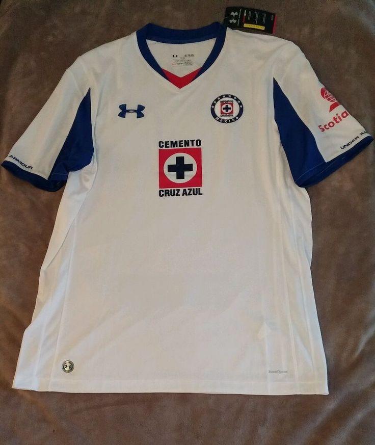 Under Armour HG Deportivo Cruz Azul Soccer Mens Jersey Shirt sz XL NWT Telcel  #UnderArmour #CruzAzulJersey
