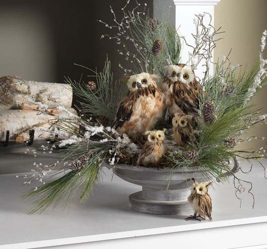 2012 Christmas Centerpiece and Window Decoration Ideas from RAZ: Use for a winter display after Christmas