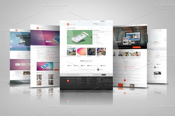 Web Presentation Mock Ups by RgraphicsDesign on @creativemarket