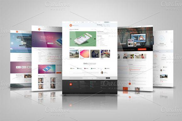 Web Presentation Mock Ups by RgraphicsDesign on @creativemarket
