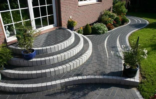 I Quite Like This Stunning Photo Brickpathways Moderner Garten Aussentreppe Ziegel Stufen