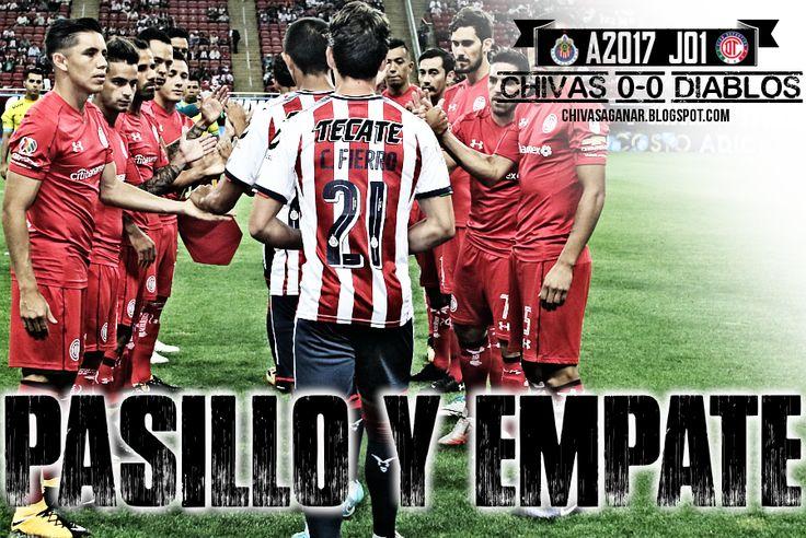 CHIVAS 0-0 DIABLOS || DEBUTA CON EMPATE A CERO Los Rojiblancos igualan 0-0 ante Toluca, que termina con diez hombres. Debido a la falta de titulares, los Rojiblancos debutaron a dos juveniles en primera división. Para Almeyda, el Rebaño cumplió ante Toluca.