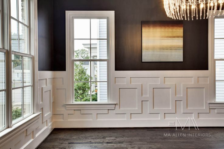exquisite white millwork . dark walls with subtle sheen . MA Allen Interiors