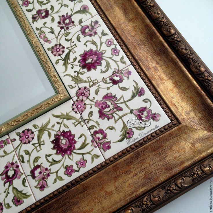 Купить Роспись керамики Зеркало Восточное - зеркало, зеркало настенное, зеркало ручной работы