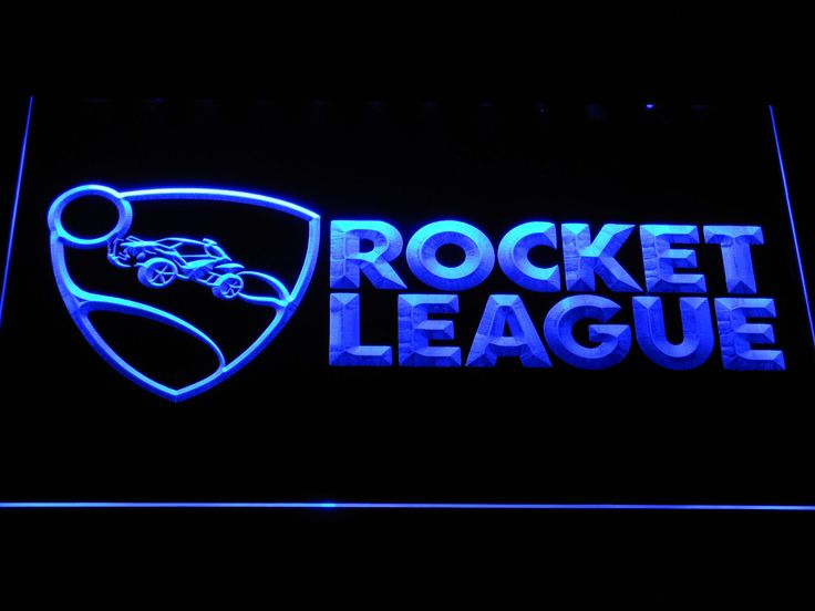 Rocket League Vehicular Soccer Video Game Led Neon Sign E106-B