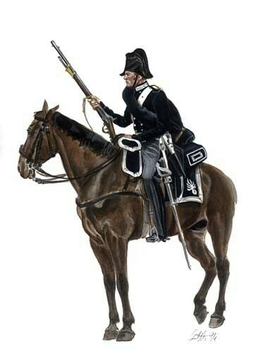 1848/1849 - Guerra di Indipendenza - carabiniere a cavallo, pin by Paolo Marzioli