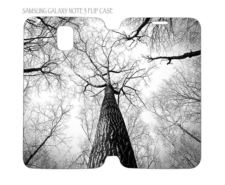 Samsung Galaxy Note 3 Flip Case Folio Cover Branch of Trees Black and White #QuinnCafe
