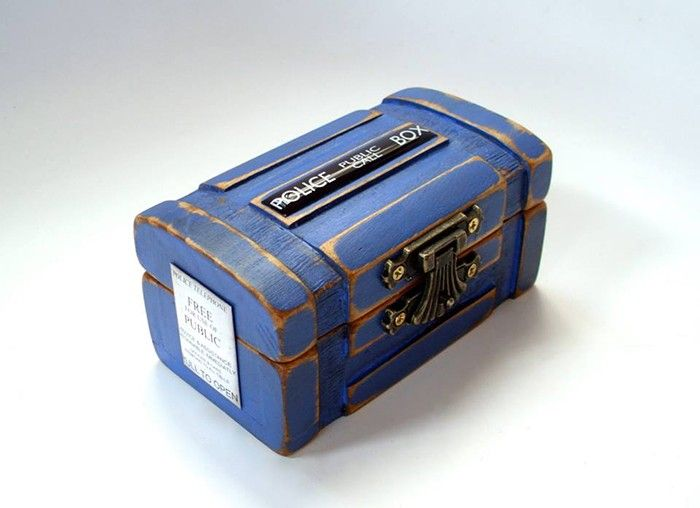 Beautiful handcrafted #DoctorWho #TARDIS inspired Ring Box #whovian #wedding