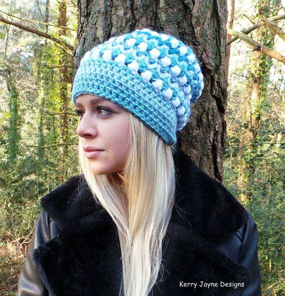 SKY FALL CROCHET Hat Pattern  Slouch hat por KerryJayneDesigns