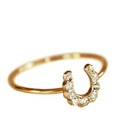 Erica Weiner Gold & Pave Horseshoe Ring