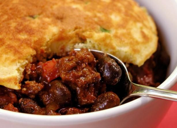 Beef and Black Bean Chili With Green Onion Corn Cakes. This is my ...
