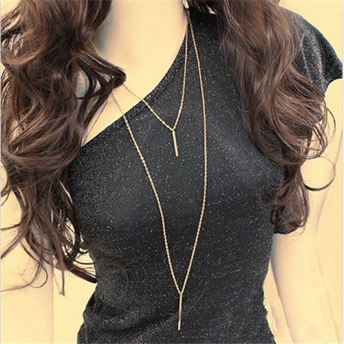 Hot-Women-Gold-Plated-Long-Sweater-Chain-Vertical-Bar-Pendant-Necklace-Jewelry-H
