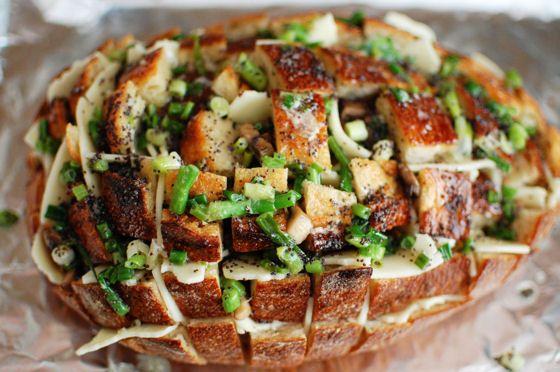 pain bacon oignon et ail