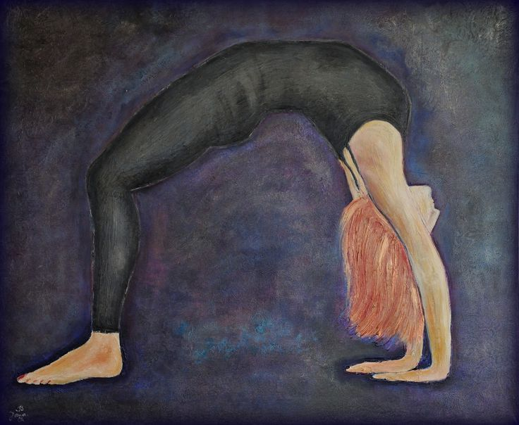 Urdhva Dhanurasana, mixed media on canvas, 120x100cm, sold