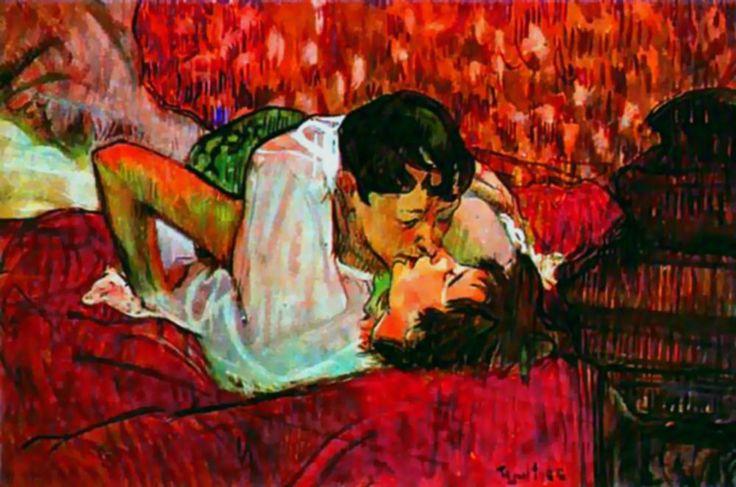 Henri de Toulouse-Lautrec - The Kiss - 1892 -    writedesignonline.com