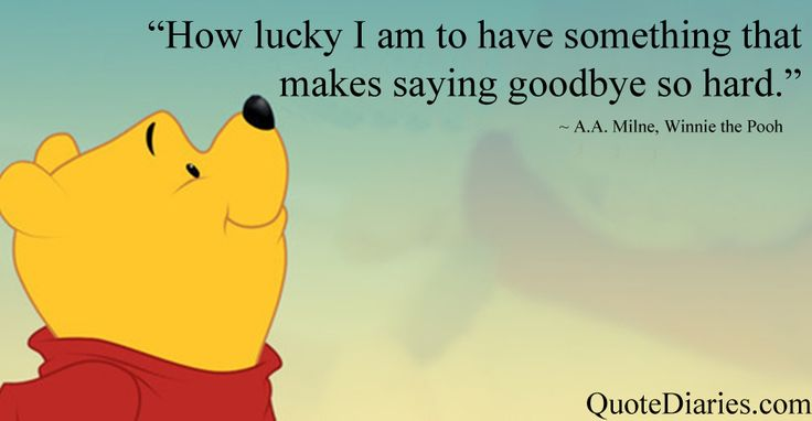 """""""How lucky I am to have something that makes saying ..."""