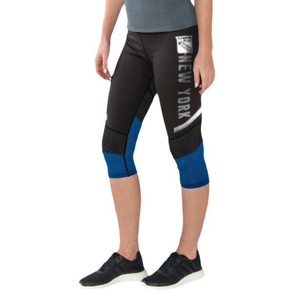 New York Rangers G-III Sports by Carl Banks Women's Half Marathon Knee Capri Pants - Black/Royal - $34.99