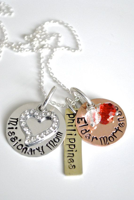 Personalized Missionary Mom Necklace-Missionary Mom by Cheri1973