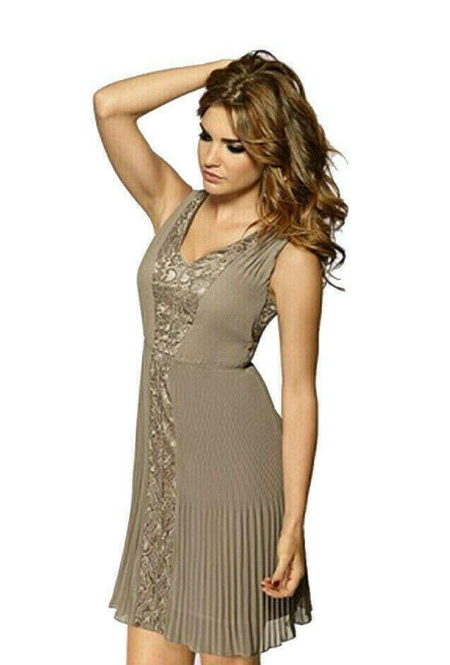 Heine #Damen #elegantes #Chiffonkleid Plissee Kleid mit