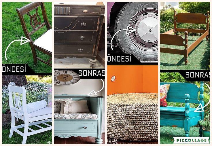 Eski Eşyaların Geri Dönüşüm Fikirleri - Öncesi ve Sonrasıyla 19 Farklı Örnek