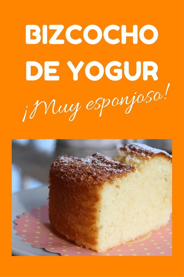 bizcocho de yogur muy esponjoso