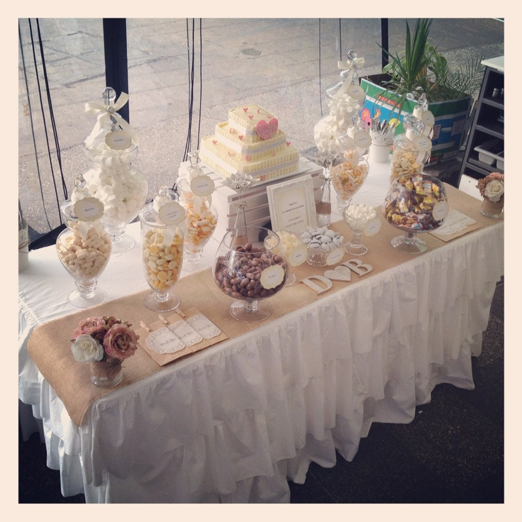 Rustic / vintage wedding lolly buffet styled by Once Upon A Table events @Jewells McCutcheon