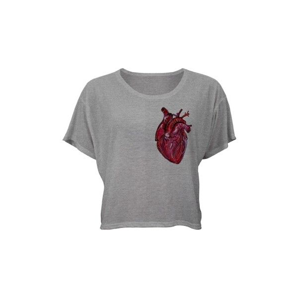 Wear your heart (32 AUD) ❤ liked on Polyvore featuring tops, t-shirts, shirts, crop tops, heart tee, crop t shirt, crop top, heart shirt and heart t shirt