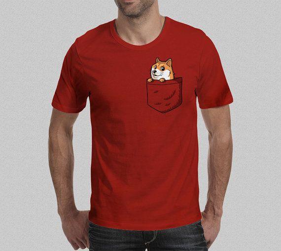 Pocket Doge T-Shirt - Shibe T-Shirt - Shiba Inu - Dogecoin T-Shirt - Men's T-Shirt S M L XL XXL