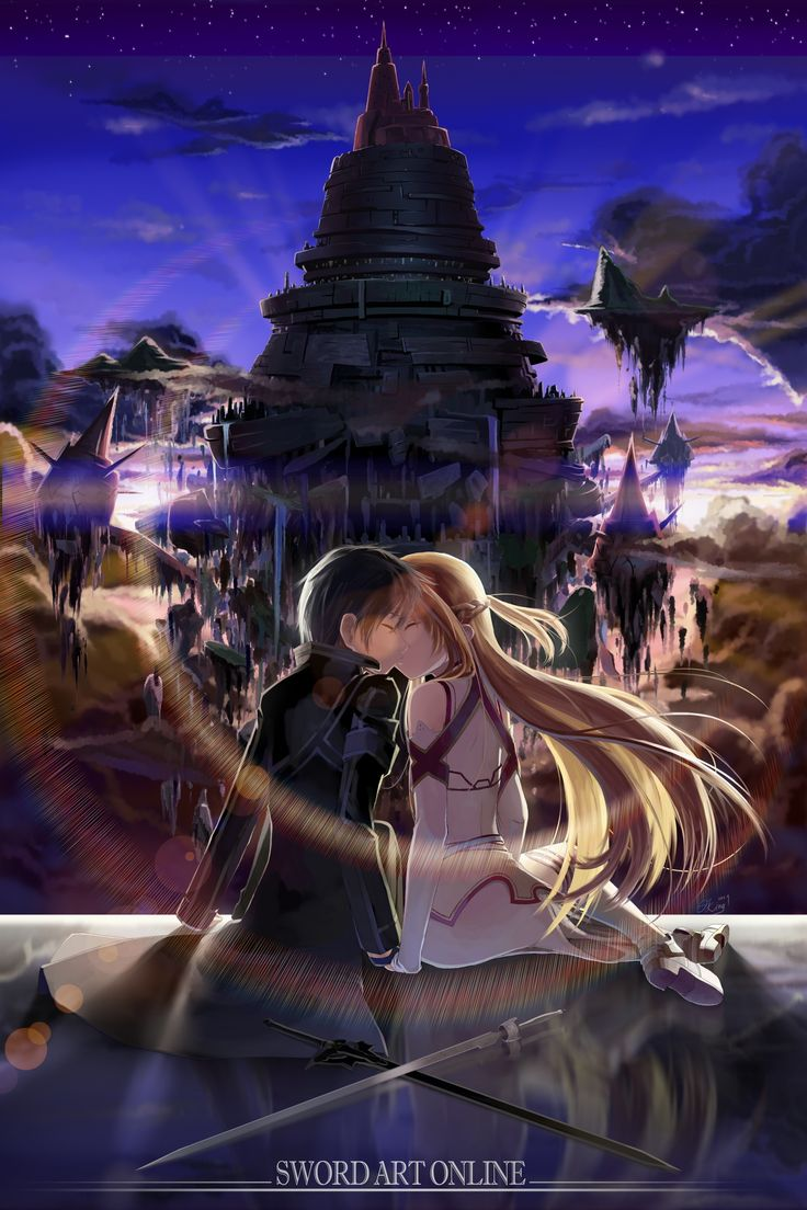 Sword Art Online-Kirito and Asuana....Best. Couple. Ever. Every couple should follow their example.