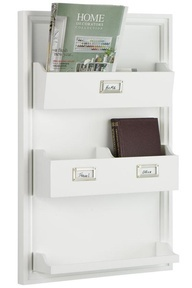 Organization tip: Hang a magazine rack in an entry way to corral mail and clutter!