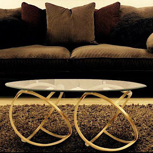 Metal Hoops Coffee Table