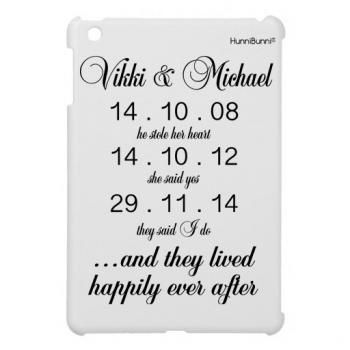 HunniBunni 'He Stole Her Heart' Personalised Hard Tablet Case