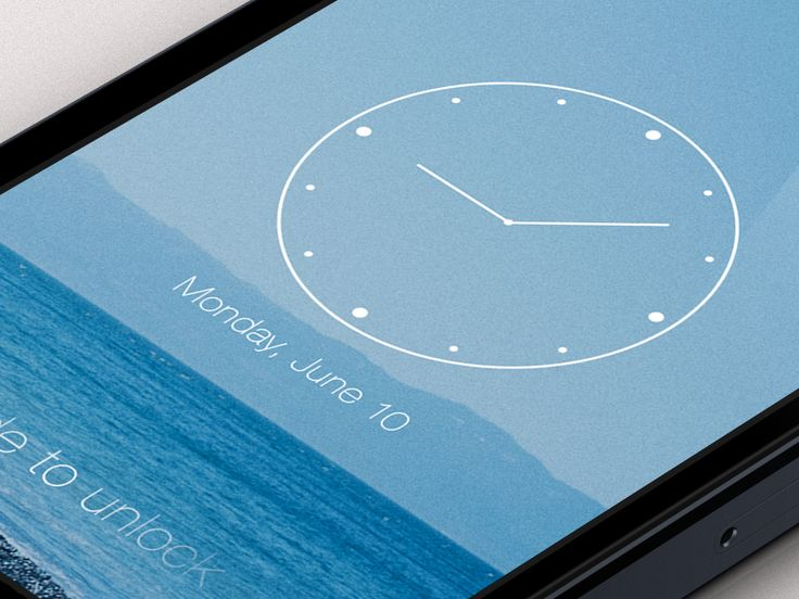iOS7 Lock Screen by Charles Patterson