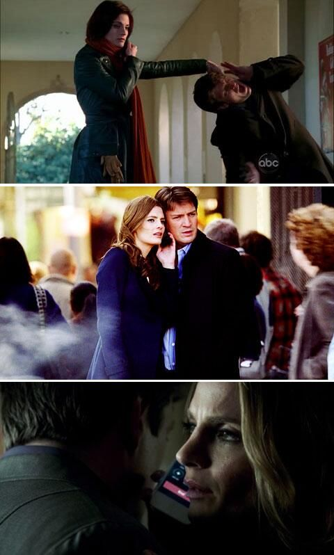 Progression of Castle and Beckett sharing a phone! Because speaker phone doesn't work for Castle and Beckett :)