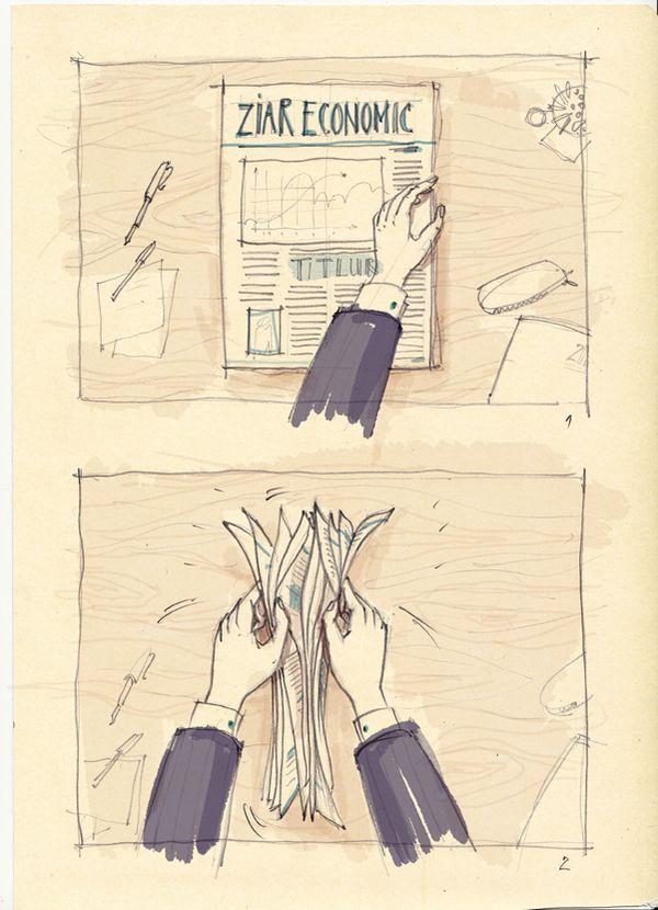 storyboards by madalina andronic, via Behance
