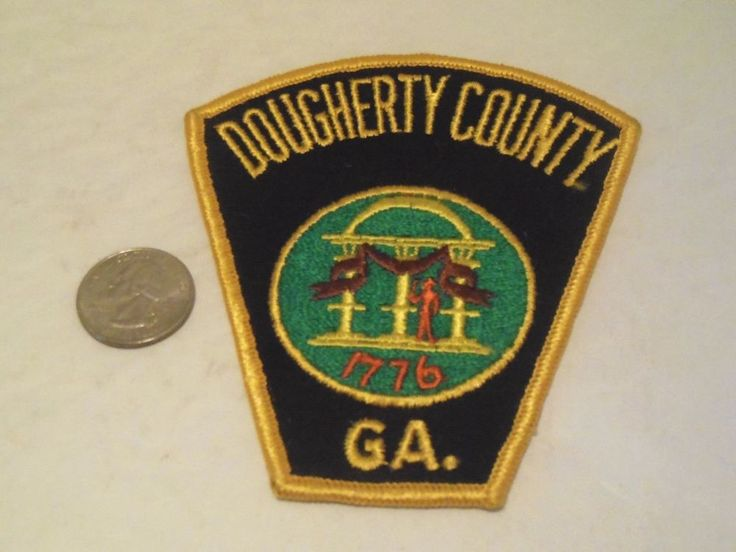 Dougherty County GA Cloth Patch Black Fabric Georgia Law Enforcement Official