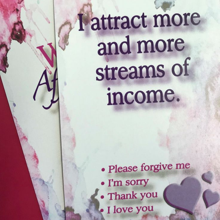 Daily wealth affirmation card to help you improve …