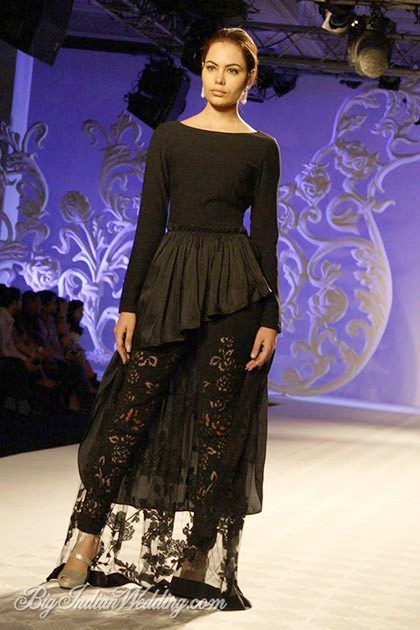 Varun Bahl cut-out leggings with peplum-style top