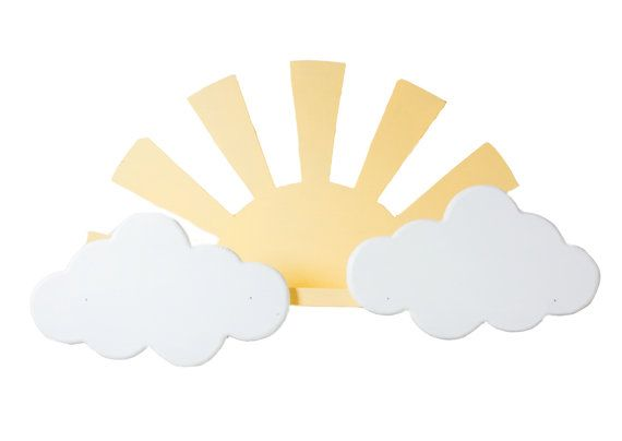 Sun and clouds shelf by ShopLittles on Etsy