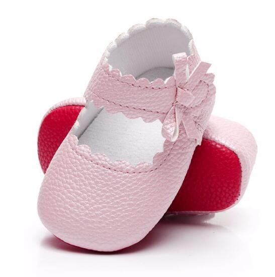 b2d81629e3e Sweetly Sidebow style Baby Girls shoes soft PU leather Mary Jane ...