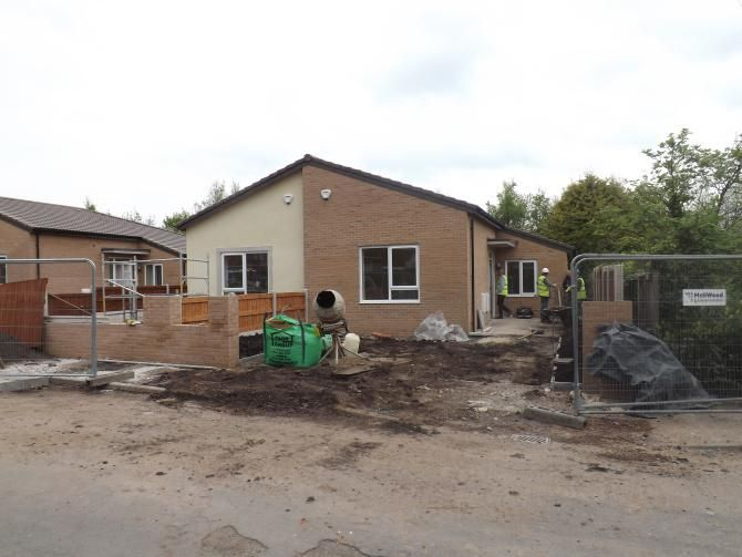 Lancing Close, Halewood (On-site photo) -  The Lancing Close development has been on-site since 22nd October 2012 and will be made up of four 2 bedroom semi –detached bungalows.