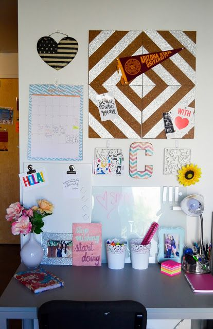College Blog   Dorm DIY Decorations. This should be done for my guest rooms desk