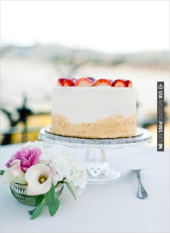 strawberry cake wedding ideas   CHECK OUT MORE IDEAS AT WEDDINGPINS.NET   #weddingcakes