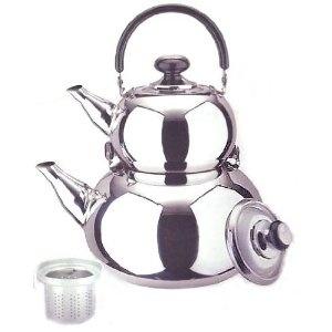 Turkish double tea pot/kettle.: Teas Time, Teapots, Double Teas, Turkish Tea, Teas Pots, Persian Teas, Teas Potkettl, Teas Kettles, Samovar Style