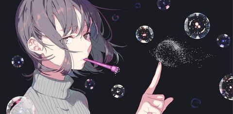 「シャボン玉」/「ソノムラ@ついった」のイラスト [pixiv]