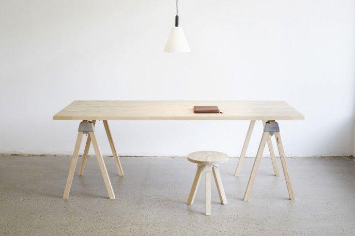 Henry's Furniture Trestle Desk Remodelista self assemble for 950$ Aussie