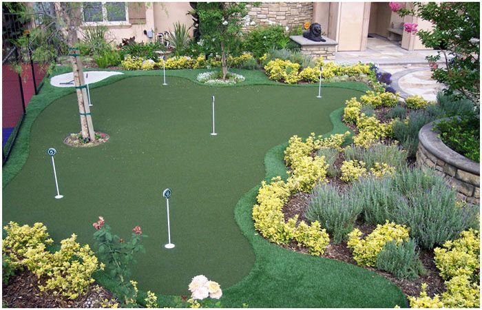 backyard golf outdoor living pinterest
