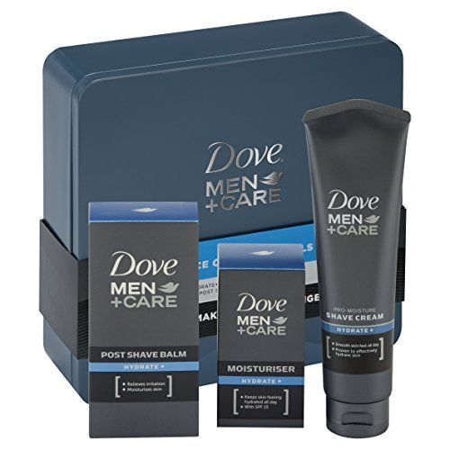 From 10.99:Dove Men  Care Essential Face Care Tin Mens Gift Set